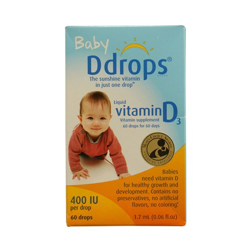 D Drops Liquid Vitamin D3 Baby 400 Iu 0.06 Fl Oz