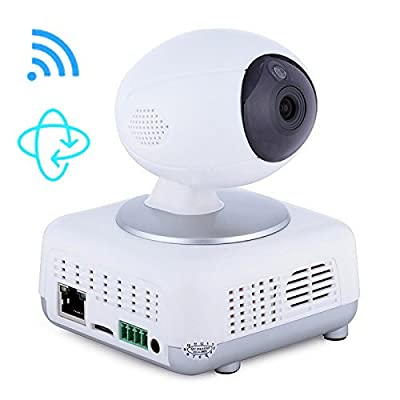 iHouseKeeper IP Camera Wireless Security Camera System Internet Network Video Surveillance,PTZ Pan/Tilt,Night vision,Motion Detection,720P,White