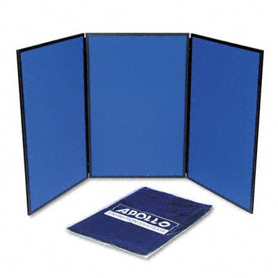 Quartet Show-It! Exhibition Display System, 3-Panels, 72 x .75 x 36 Inches, Blue and Gray (SB93513Q)