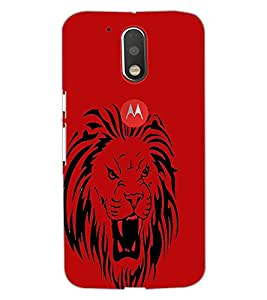 PrintDhaba Lion D-1960 Back Case Cover for MOTOROLA MOTO G4 PLUS (Multi-Coloured)