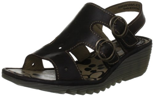 Fly London Women's Ogla Dark Brown Slingbacks P500385005 8 UK