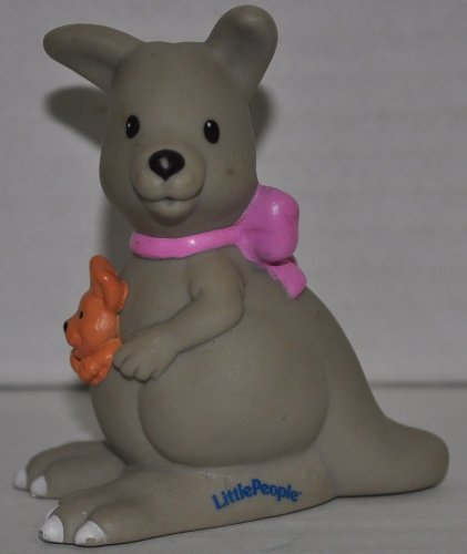 Little People Kangaroo (2001) - Replacement Figure - Classic Fisher Price Collectible Figures - Loose Out Of Package & Print (OOP) - Zoo Circus Ark Pet Castle - 1
