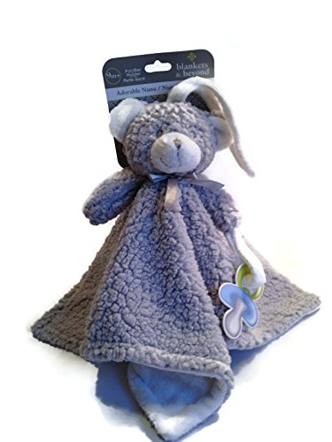 336f2f3c85 Blankets and Beyond Grey and White Fuzzy Bear Nunu with Stroller Ties