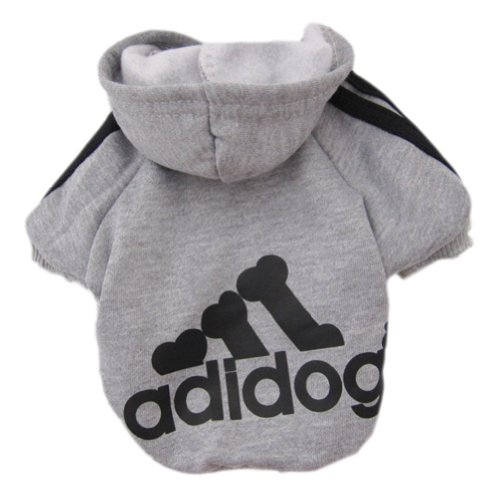 Zehui Pet Dog Cat Sweater Puppy T Shirt Warm Hoodies Coat Clothes Apparel Grey M