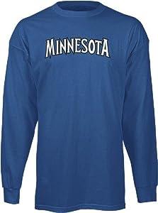 Minnesota Timberwolves Adidas NBA Dime Long Sleeve T-Shirt - Blue by adidas