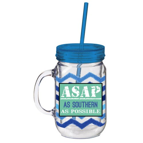 ASAP As Southern As Possible Double Walled Mason Jar Insulated Mug