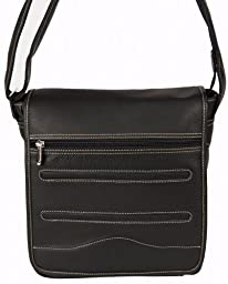 David King & Co. Deluxe Medium Messenger, Black, One Size
