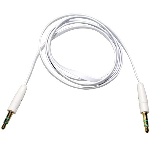 "White Premium 3.5Mm 1/8"" Audio Aux Cable Lead Cord For Skullcandy Hesh 2 Headphone **Ablegrid Trademarked**"