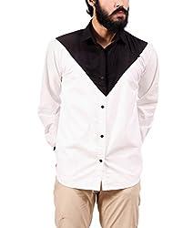 Fadjuice Men's Shirt (Fj43848X_Black White_X-Large)