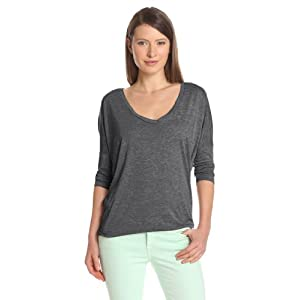 Alternative Women's Dolman Long Sleeve Top, Ash Heather, Large