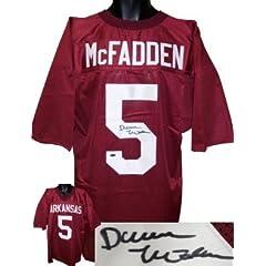 Darren McFadden Autographed Hand Signed Arkansas Razorbacks Jersey- McFadden Hologram