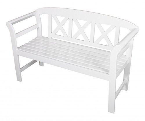 gartenbank 2 sitzer eukalyptus fsc holz wei lackiert. Black Bedroom Furniture Sets. Home Design Ideas