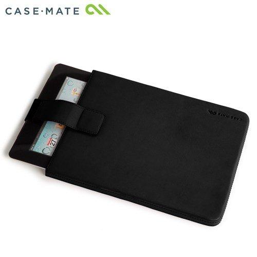 Case-Mate 日本正規品 iPad Retinaディスプレイモデル (第4世代) / iPad (第3世代) / iPad 2 対応 Leather Signature Sleeve Case, Black 本革レザー シグネイチャー スリーブ ケース, ブラック CM019680