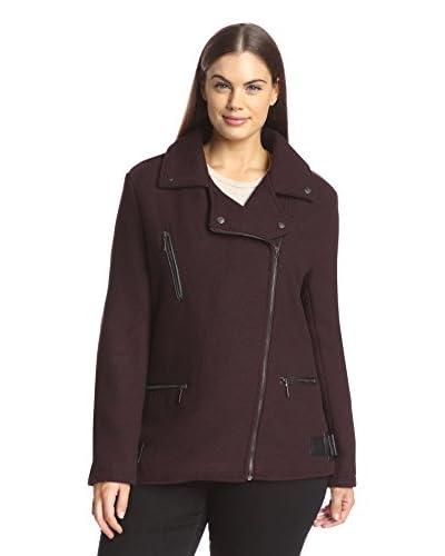 Yoki Plus Women's Textured Coat