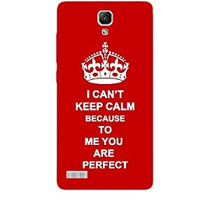 Skin4gadgets I CAN'T KEEP CALM BECAUSE To Me You Are Perfect - Colour - Red Phone Skin for XIAOMI REDMI NOTE