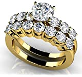 18k Yellow, Lucky Seven Bridal Set, 1.87-2.62 ct. (Color: GH, Clarity: VS) thumbnail