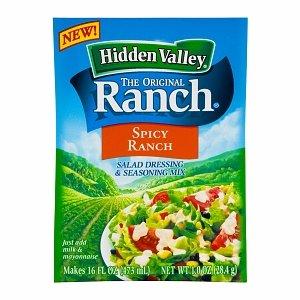 Hidden Valley Salad Dressing & Seasoning Mix, Spicy Ranch, 1 oz