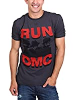 Amplified Camiseta Manga Corta Vintage-Run Dmc (Azul Oscuro)