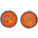 999Store Handmade Round Multicolour Shubh Labh Diwali Door Hanging
