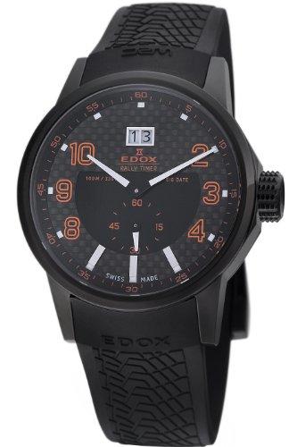 Edox Men's 64008 37N NOR WRC Big Date Black Dial Watch