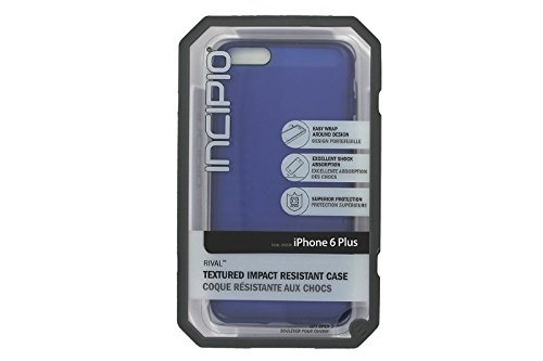 iPhone 6S Plus Case, Incipio Rival Case [Textured] Bumper Cover fits iPhone 6 Plus, iPhone 6S Plus - Translucent Cobalt Blue (Incipio Rival Phone Case compare prices)