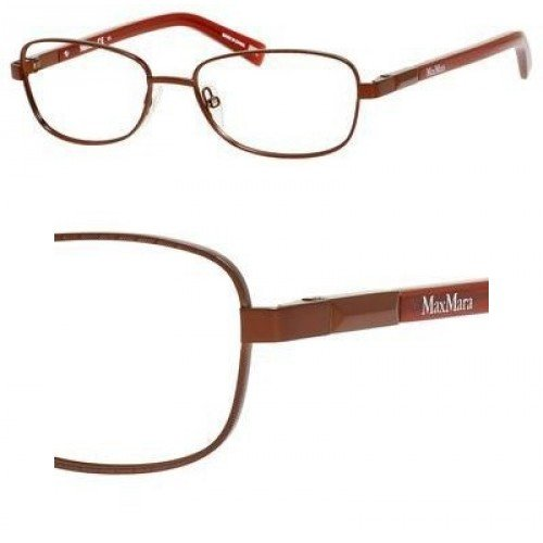 Max Mara MAX MARA Eyeglasses 1186 0R6r Matte Red Cherry 52MM