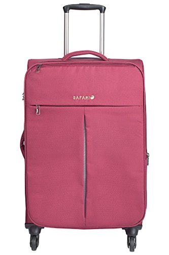 Safari Hexlite Plus Fabric 77 cms Wine Softsided CarryOn
