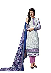Aarushi Fashion Grey Colored Pure Lawn Cambric Printed Suit.