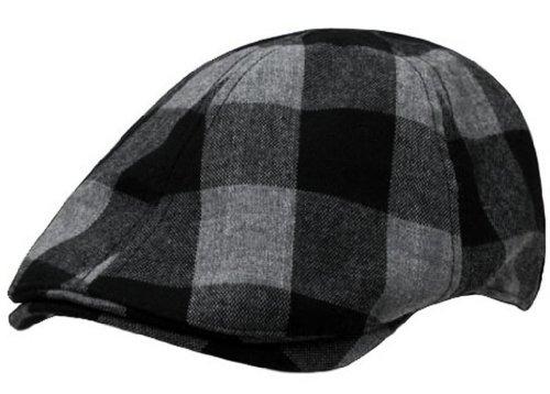 Plaid Ivy Golf Hat Driver Cap by Decky (Black/Grey Plaid, Small/Medium)