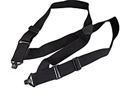 No Buzz Airport Friendly 2 Wide Holdup Side Clip Suspenders w/ Patented Gripper Clasps