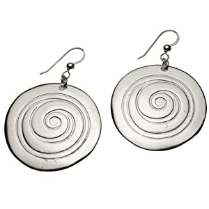 Spiral Silver-dipped Earrings on French Hooks