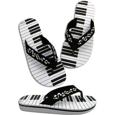 Women's Music Keyboard Flip Flops (Size 7 Small)