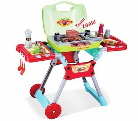 Deluxe Kitchen BBQ Pretend Play Grill Set with Light and Sound by Barbecue Set (Deluxe Kitchen Bbq Grill Set compare prices)
