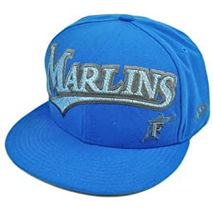 MLB Florida Marlins New Era 59Fifty 5950 Fitted Hat Cap Blue On Field 7 5 8 by 59FIFTY New Era