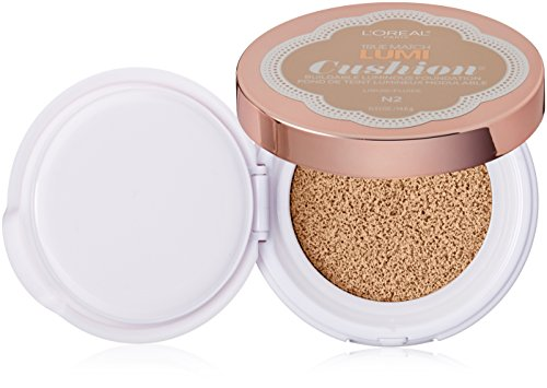 L'Oreal Paris discount duty free L'Oreal Paris Cosmetics True Match Lumi Cushion Foundation, N2 Classic Ivory, 0.51 Fluid Ounce