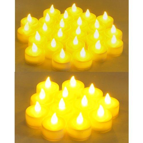 Instapark® Lcl-72 Battery-Powered Flameless Led Tealight Candles, 6-Dozen Pack