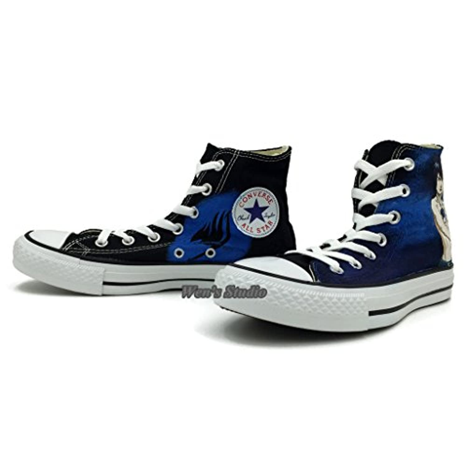 All Star Converse Anime Shoes Fairy Tail Blue Yellow ...
