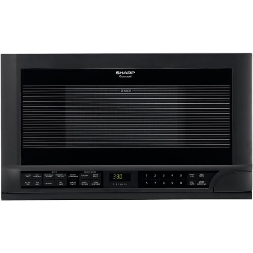 Sharp 1.5 Cubic Foot 1100 Watt Over-the-Counter Microwave Oven (Black) (Under The Counter Microwave Oven compare prices)