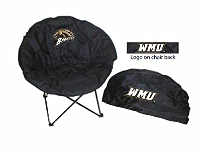 Rivalry Rivalry Sports Team Logo Design Outdoor Travel Tailgating Western Michigan Round Chair