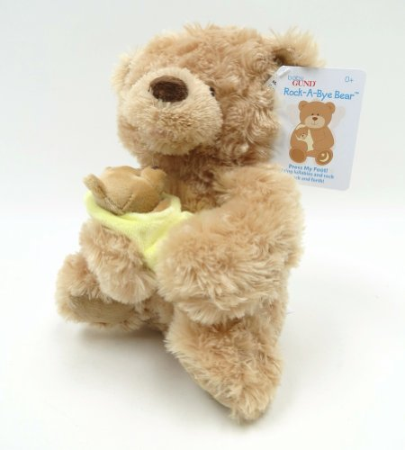 Gund Fun Rock-A-Bye Baby Bear Animated 10