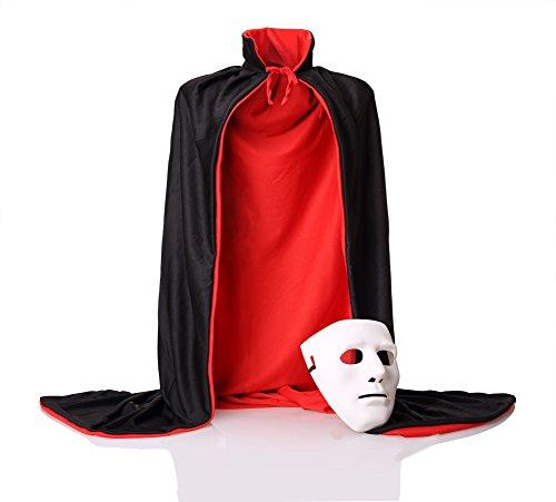 DoSmart-Halloween-Cloak-Double-Face-Satin-Red-Black-Dress-with-Masks