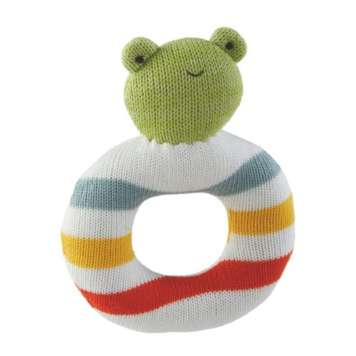 Frog Easy Grip Ring Baby Rattle Toy - 1