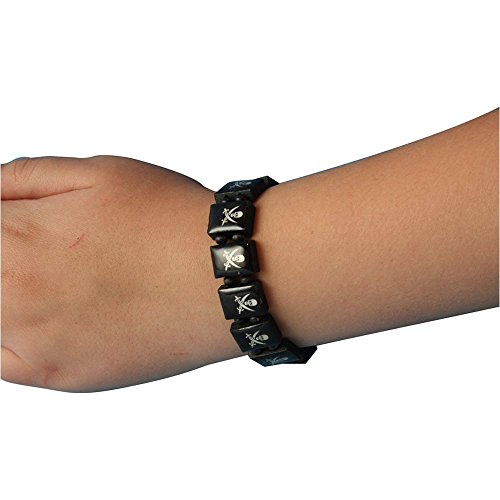 Jolly Roger Square Bead Bracelet - One Size
