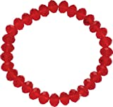 Jodie Rose Red Bead Stretch Bracelet