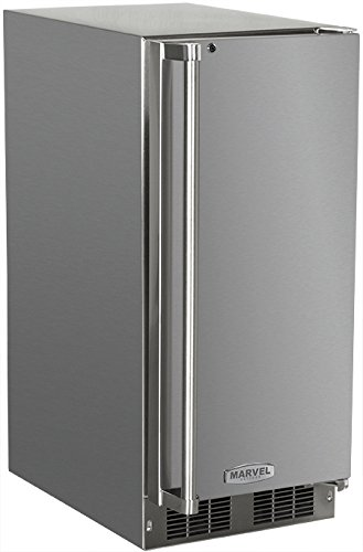 AGA Marvel 25OiM-SS-F-R Outdoor Under-Counter Crescent Ice Machine, Right Hinge Stainless Steel Door, 15-Inch (Under Counter Ice Cube Maker compare prices)