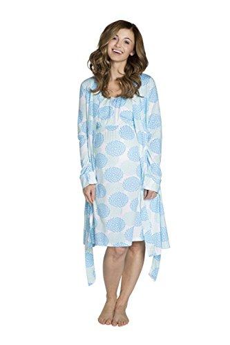Baby Be Mine Maternity/Nursing Sleeveless Nightgown & Robe Set (Large pre pregnancy 12-14, Eden)