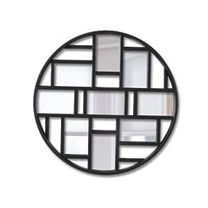 Umbra luna mirror black home kitchen for Miroir umbra