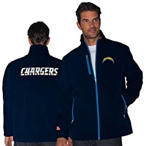San Diego Chargers Mens NFL Overtime Soft Shell Jacket by NFL Team Apparel