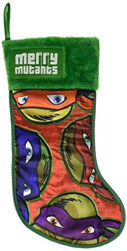 Kurt Adler Teenage Mutant Ninja Turtles Applique Stocking, 19-Inch (Ninja Turtle Stocking compare prices)