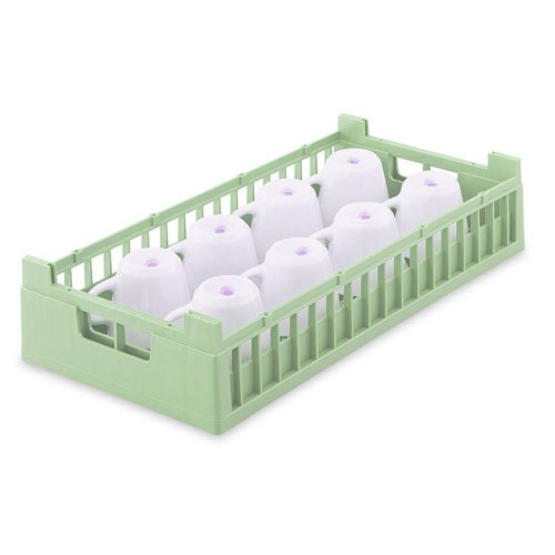 Vollrath 5280510 Light Green Half Size 8-Compartment Cup Rack